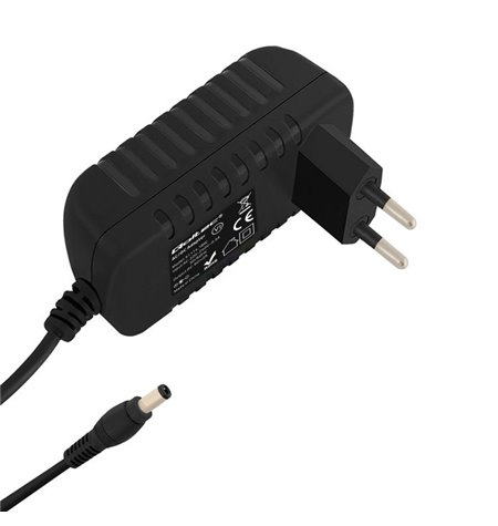 Charger, power adapter: 12V - 1A - 5.5x2.5mm