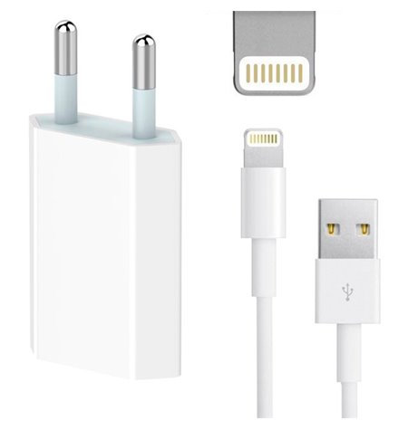 iPhone charger: Cable 2m Lightning + Adapter 1xUSB 1A