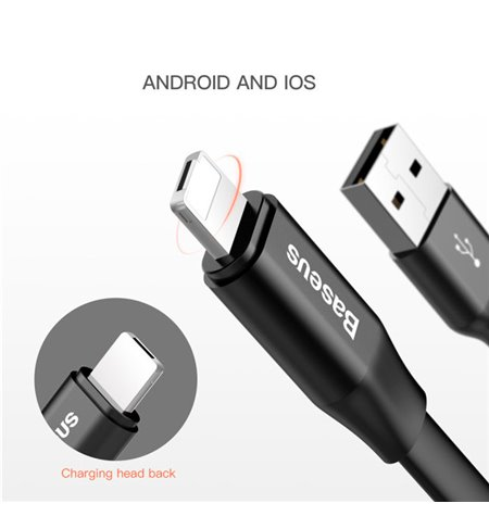 Baseus cable: 2in1, 0.23m, USB - Lightning, iPhone, iPad + Micro USB: Nimble Portable
