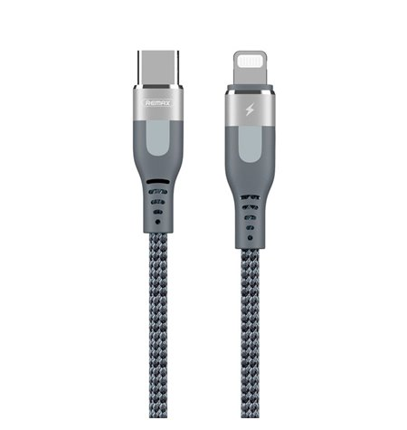 Remax cable: 1m, Lightning, iPhone, iPad, male - USB-C, Type-C: male, PD Power Delivery: RC151CL
