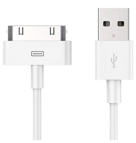 Apple cable: 1m, iPhone 30-pin, iPhone, iPad - USB