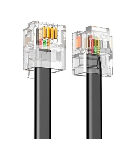 Network Cable, Internet Cable: 3m, Telephone cable, RJ11, RJ14