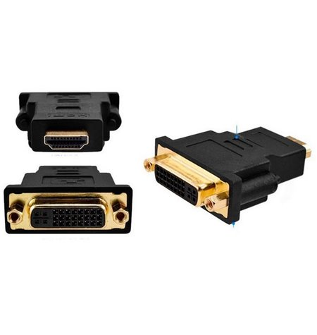 Adapter, üleminek: HDMI, male - DVI-I, female